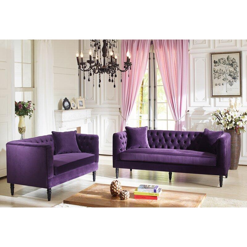 Latitude Run Yates 2 Piece Living Room Set & Reviews   Wayfair