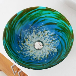 Whirlpool Glass Circular Vessel Bathroom Sink Elite