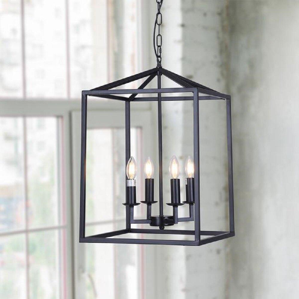 Williston Forge Cabool 4 Light Lantern Rectangle Pendant Wayfair