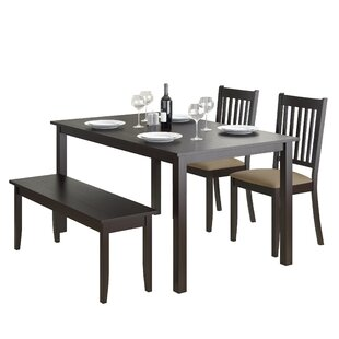 Dunster 4 Piece Dining Set by DarHome Co Comparison