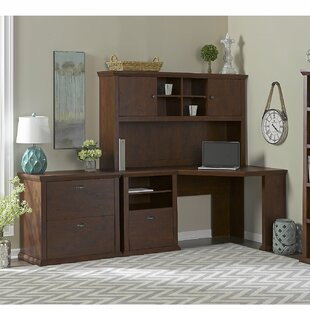 Ferrell 4 Piece L-Shape Wood Desk Office Suite