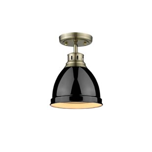 Bodalla 1-Light Semi Flush Mount by Beachcrest Home