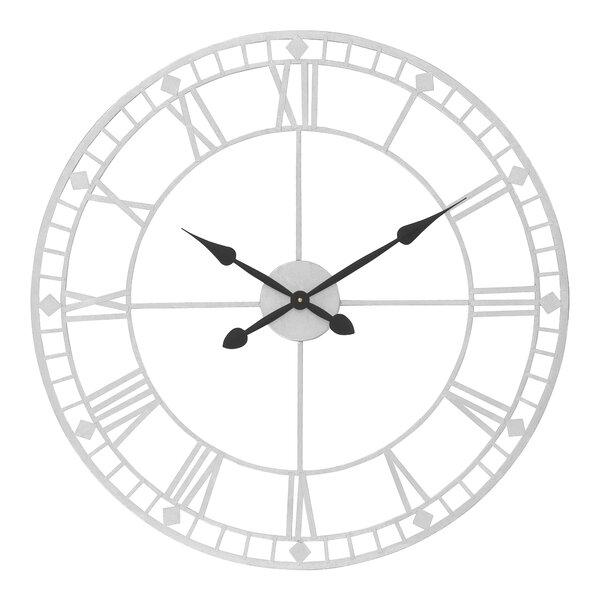 Brambly Cottage Bruner Oversized Metal Round 80cm Wall Clock Reviews Wayfair Co Uk