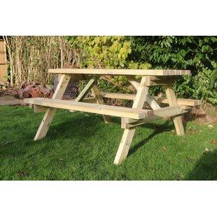 Deals Wingate Wooden Picnic Bench