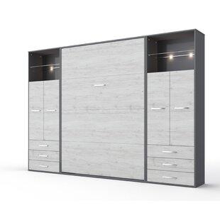 Rao Full Storage Murphy Bed with Mattress