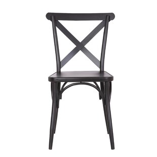 Parikh Cross Back Dining Chair (Set of 2) Breakwater Bay