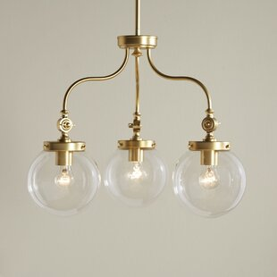 Birch Lane™ Wyndam 3-Light Shaded Chandelier