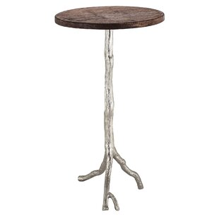 Fordham Wood/Nickel End Table by One Allium Way
