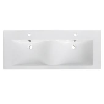 Bellaterra Home Ceramic 48 Double Bathroom Vanity Top Wayfair