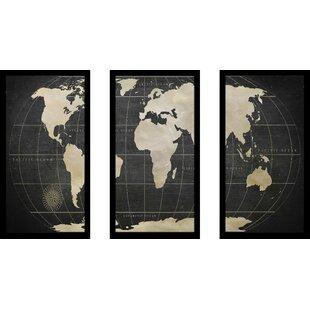 Vintage world map tapestry wayfair vintage world map graphic art print multi piece image gumiabroncs Choice Image