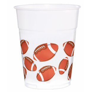 Football Printed Plastic Disposable Cup (Set of 6)