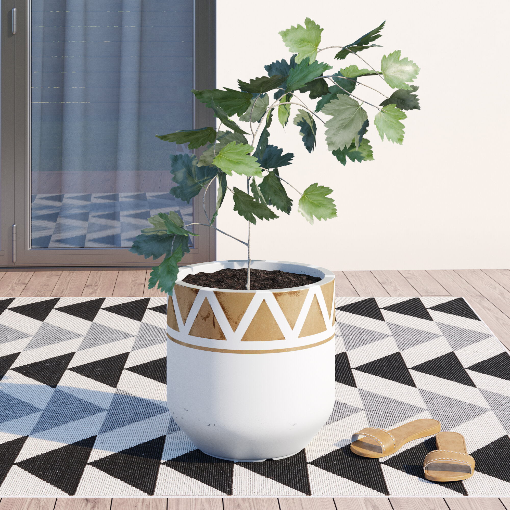 Bellavia Handcrafted Fiber Clay Pot Planter Reviews Allmodern