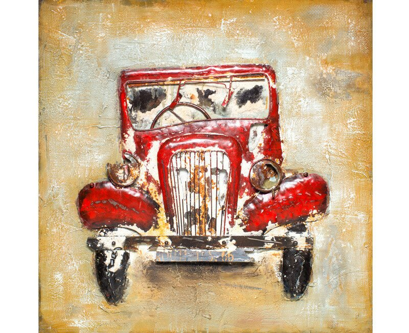 Vintage Antique Car Wall Decor