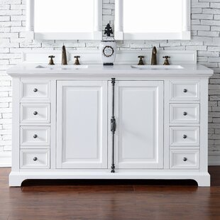 Ogallala 60 Double Cottage White Bathroom Vanity Set by Greyleigh