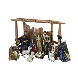 Outdoor nativity sets youll love 12 piece outdoor nativity lawn artfigurine set with crche mozeypictures Images