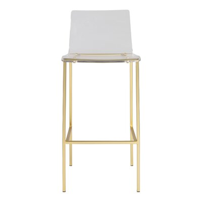Prime Comm Office Estrid 35 Counter Bar Stool Color Brushed Machost Co Dining Chair Design Ideas Machostcouk