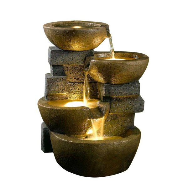 Resinfiberglass zen tiered pots fountain with led light reviews resinfiberglass zen tiered pots fountain with led light reviews joss main workwithnaturefo
