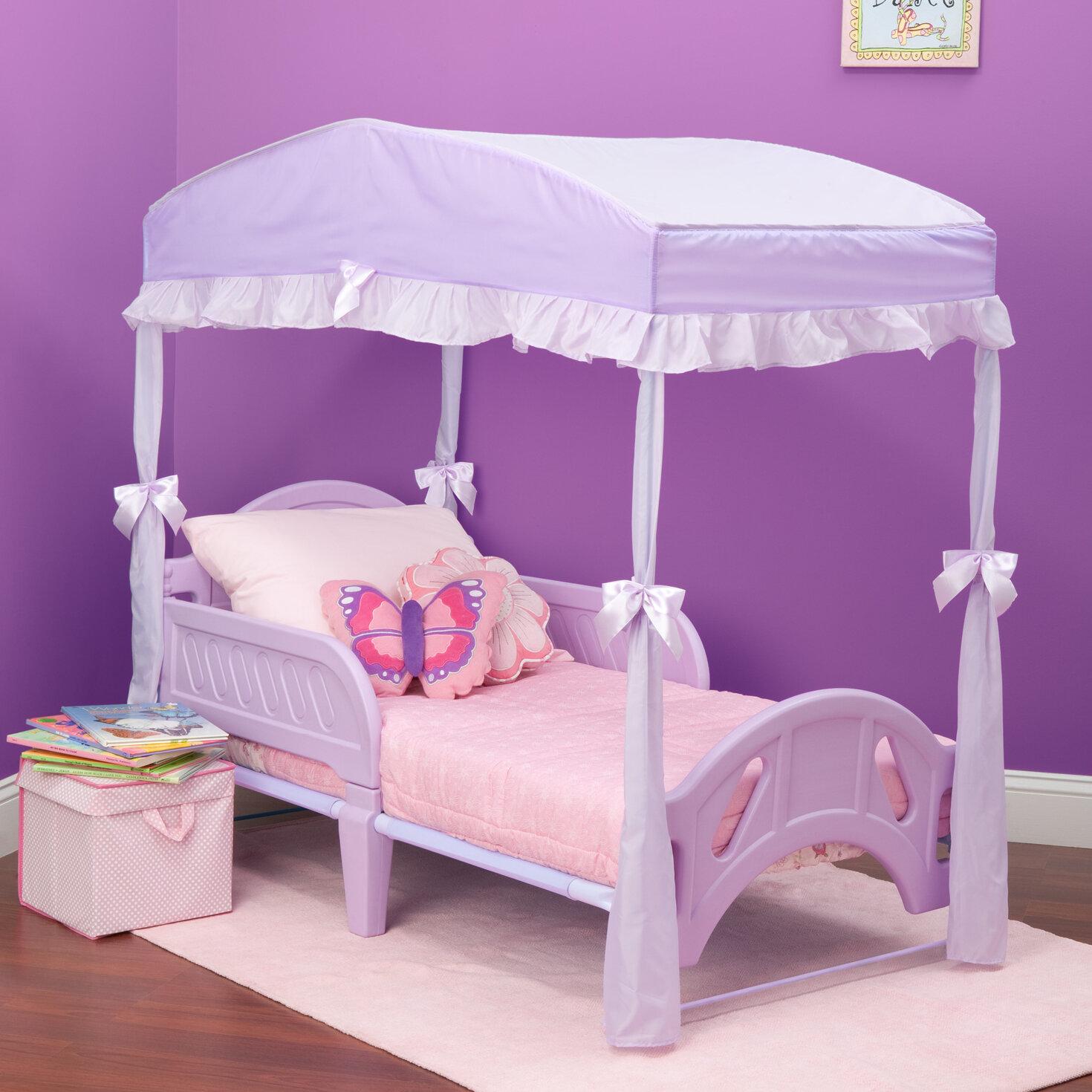 Delta children childrens girls canopy for toddler bed reviews wayfair
