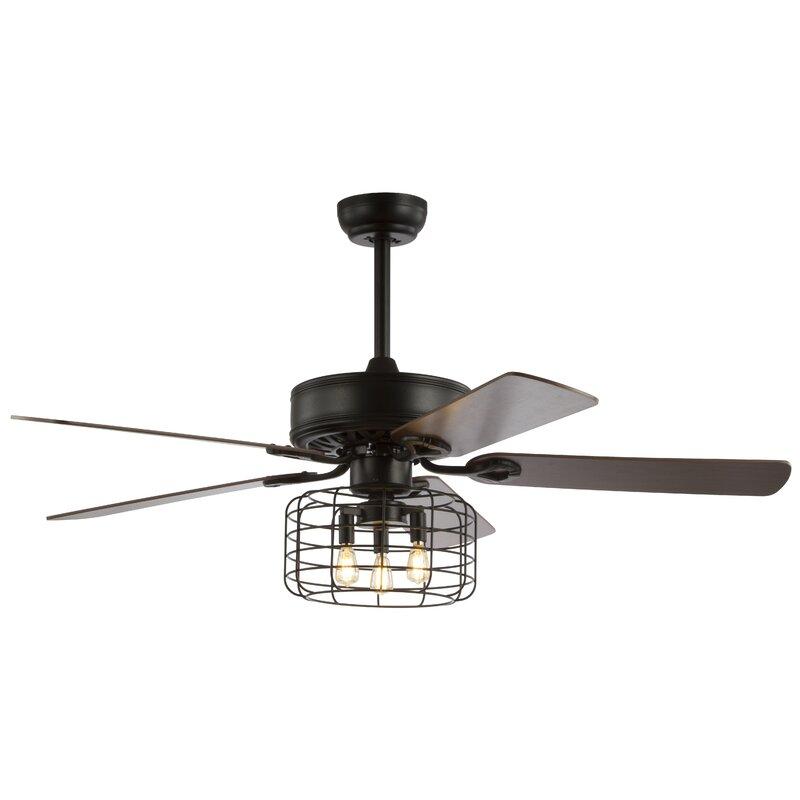 Light Metal Wood Ceiling Fan