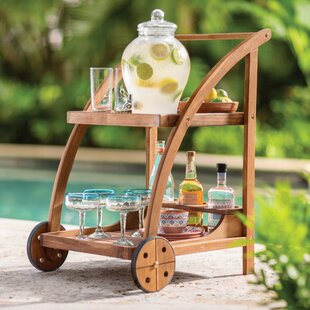 Beachcrest Home Bucksport Bar Serving Cart