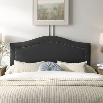 Union Rustic Tanner Plank Wood Upholstered Panel Headboard