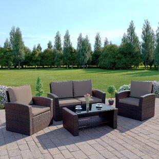 Sophie 4 Seater Rattan Sofa Set By Zipcode Design