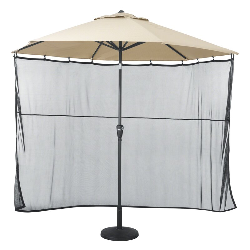 Hedon Patio Umbrella Side Wall Sun Shade Netting