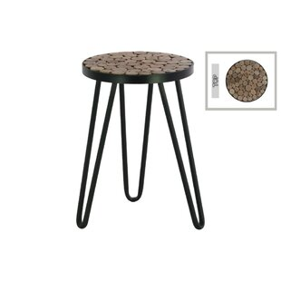 Union Rustic Sewell Metal Round Accent Stool