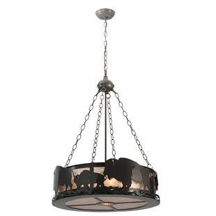Meyda Tiffany Buffalo 5-Light Drum Chande..