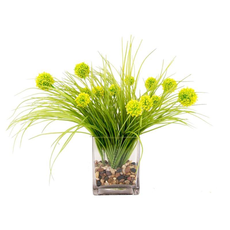 Ivy Bronx Thistle Floral Arrangements In Vase Reviews Wayfair