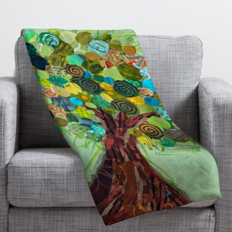 Elizabeth St Hilaire Nelson Spring Tree Throw Blanket