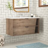 Hadly 40 Wall-Mounted Single Bathroom Vanity Set by Foundstone™