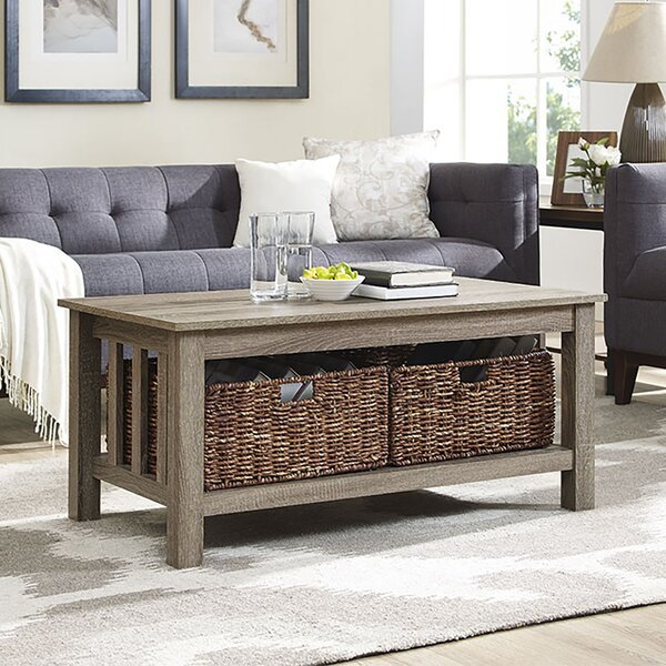 Phenomenal Basket Coffee Table Wayfair Inzonedesignstudio Interior Chair Design Inzonedesignstudiocom