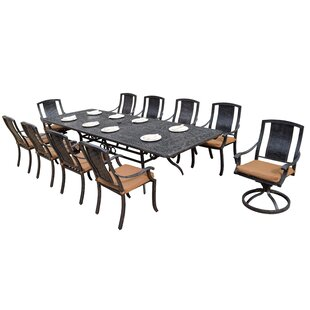 Oakland Living Vanguard 11 Piece Dining Set with Cushions