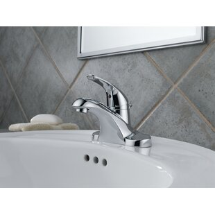 Delta Foundations Centerset Bathroom Faucet with Drain Assembly and Diamon..