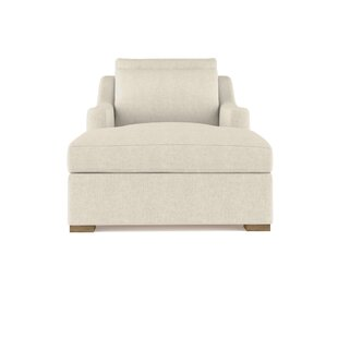 17 Stories Letterly Linen Chaise Lounge