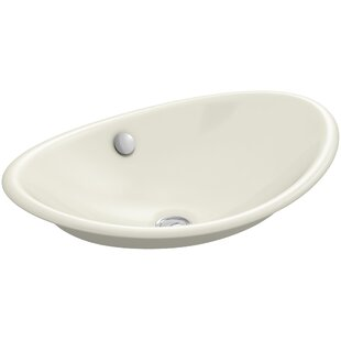 Inexpensive Iron Plains™ Metal Oval Vessel Bathroom Sink with Overflow By Kohler