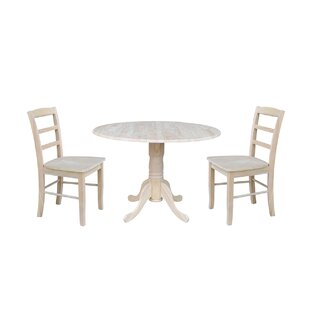 Highsmith 3 Piece Drop Leaf Dining Set Charlton Home