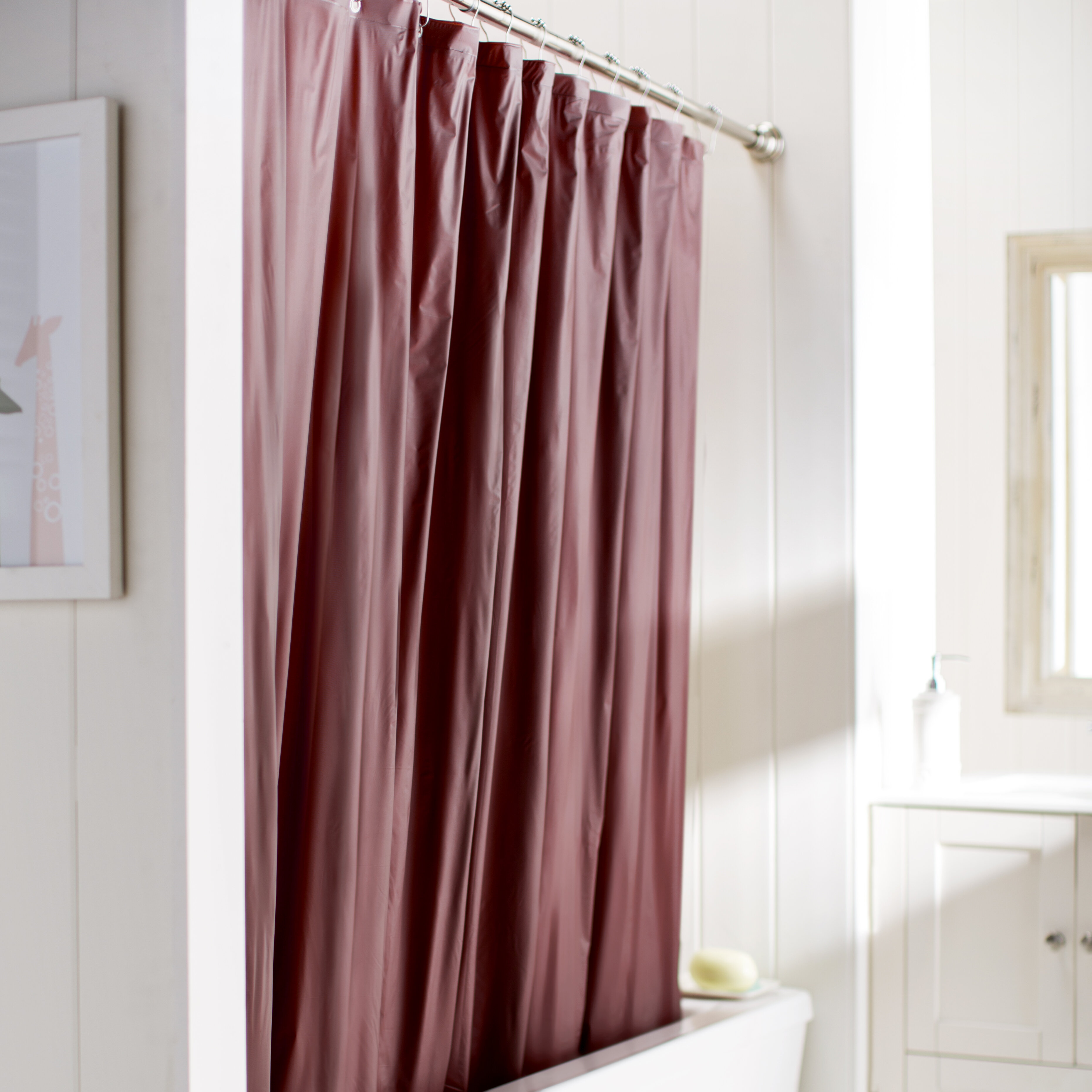 Amann Vinyl Single Shower Curtain Liner