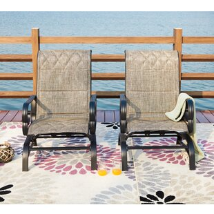 Wrought iron outdoor rocking chairs
