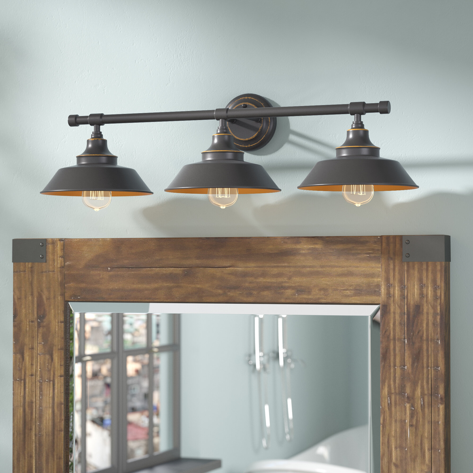 Williston Forge Myndi 3 Light Dimmable Oil Rubbed Bronze Vanity Light Reviews Wayfair