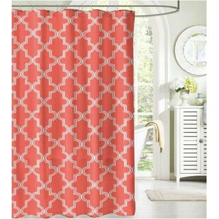 Camelot Bath Mosaico Fabric Single Shower Curtain