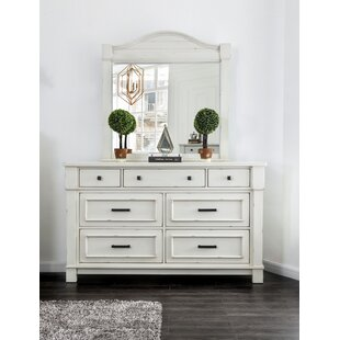 Bruno 7 Drawer Double Dresser with Mirror