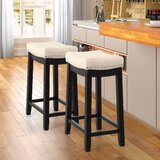 Bonaccord Solid Wood 24 Counter Stool by Red Barrel Studio®