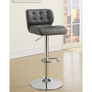 Rada Adjustable Height Swivel Bar Stool (Set of 2) by Orren Ellis