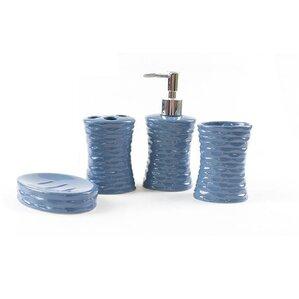 Stacia Ceramic 4 Piece Bathroom Accessory Set