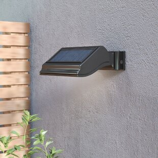 Solar powered outdoor wall lighting youll love wayfair cerridale led floodlight workwithnaturefo