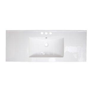Flair Ceramic 49 Single Bathroom Vanity Top by Royal Purple Bath Kitchen