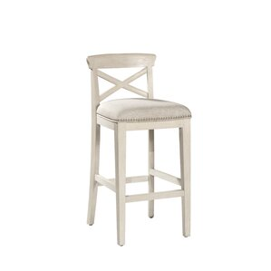 Rawlings 26'' Low Back Bar Stool (Set of 2) by Rosecliff Heights