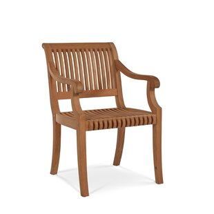 Balster Folding Teak Patio Dining Chair